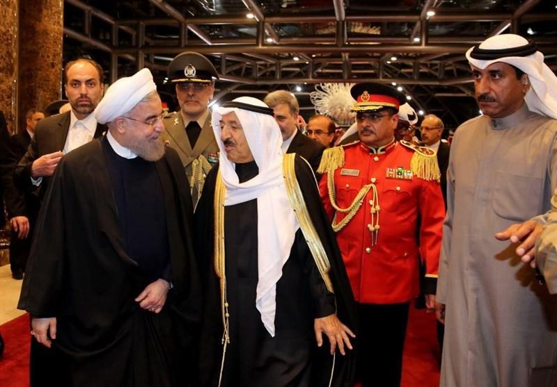 استقبال امیر کویت از روحانی