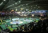 تمبر یادبود جام جهانی کشتی آزاد در کرمانشاه رونمایی شد