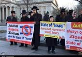 تظاهرات مردم آمریکا علیه «زوج نژادپرست»/ یهودیان: اسرائیل نماینده یهودیان جهان نیست + تصاویر و فیلم