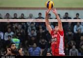 دیدار تیم های والیبال شهرداری تبریز و بانک سرمایه