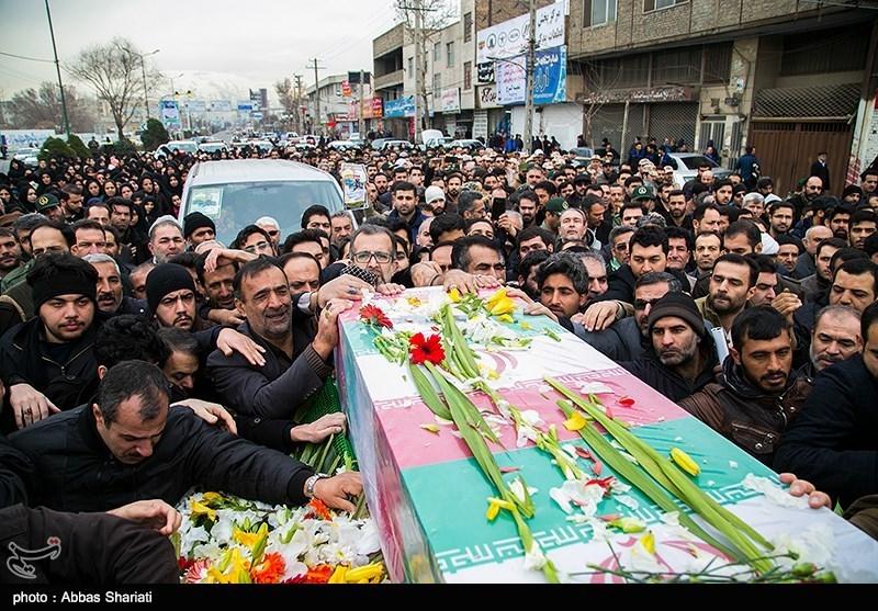 پیکر شهید زرین کمر تشییع شد