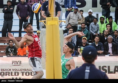 دومین روز مسابقات بین المللی والیبال ساحلی - کیش