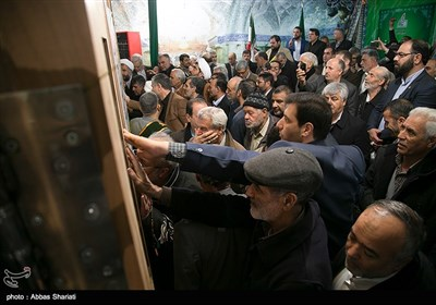 مراسم رونمایی و قلم زنی درب های حرم آقا سید محمد (ع) - کرج