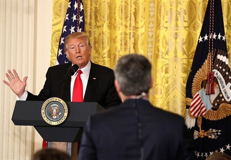 ترامپ و تمسخر سی ان ان و بی بی سی در کاخ سفید