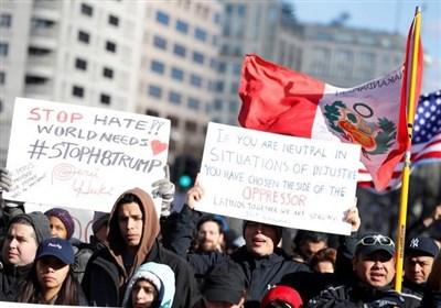 تظاهرات مهاجران