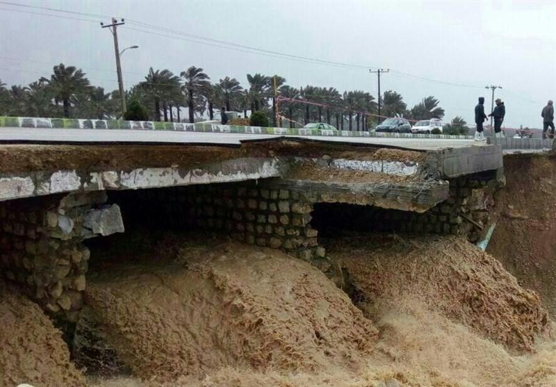 6 محور ارتباطی در فارس به علت شکسته شدن پل مسدود است