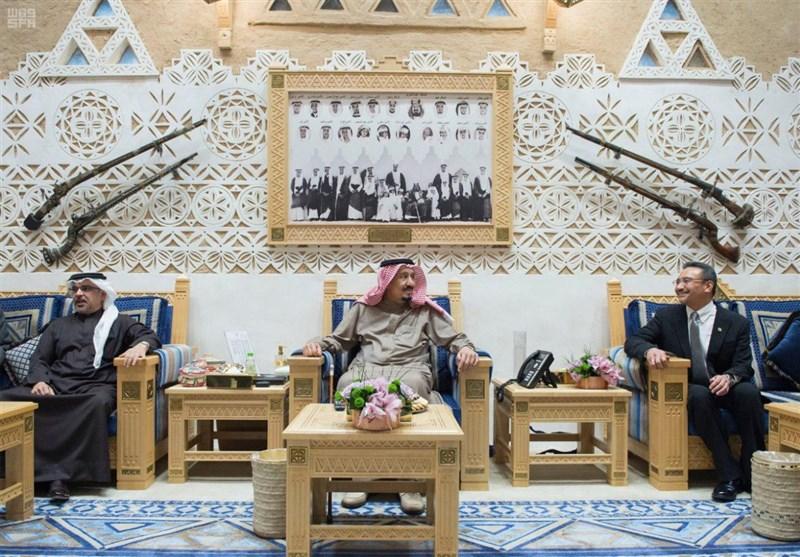 ولیعهد بحرین و وزیر دفاع مالزی با ملک سلمان دیدار کردند