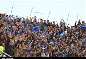 شعار هواداران استقلال علیه زمانی و برانکو و تشویق رحمتی و حیدری/ دوربینها اجازه ورود به ورزشگاه را پیدا نکردند + تصاویر