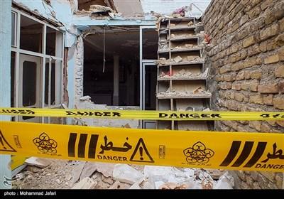 خسارات حاصل از انفجار در زنجان
