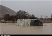 2 خانوار گرفتار در منطقه سد نساء بم رهاسازی شدند/تخریب منازل روستایی در بخش گنبکی ریگان