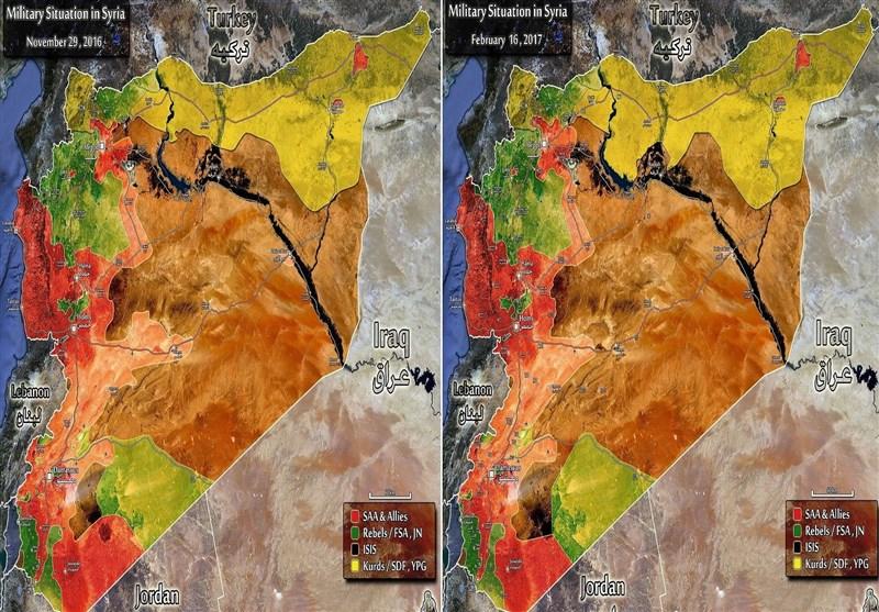 خریطة سوریا قبل وبعد