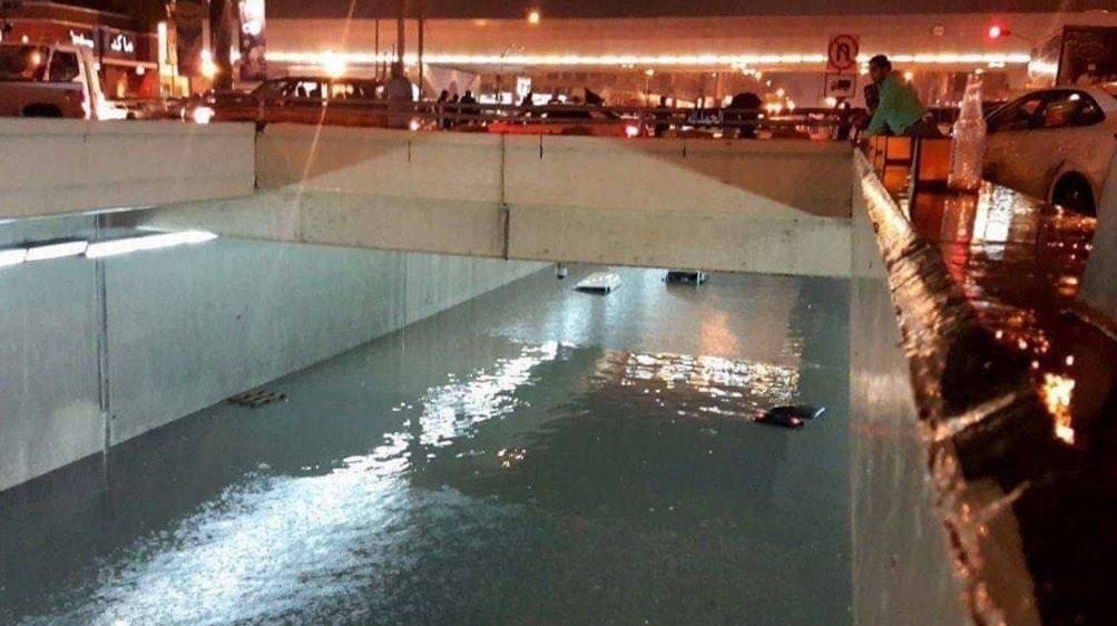 انسداد تونلهای شهری در عربستان برای مقابله با سیل