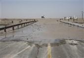 محور ساحلی دیر به بوشهر و بالعکس مسدود شد