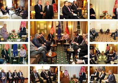 رایزنیهای اشرف غنی با رهبران کشورهای مختلف در حاشیه کنفرانس امنیتی مونیخ + تصاویر
