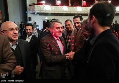 سیدرضا صالحی امیری وزیر فرهنگ و ارشاد اسلامی در پایان مراسم اختتامیه نهمین جشنواره بینالمللی هنرهای تجسمی فجر