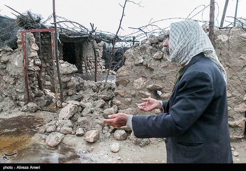 خسارت زلزله به واحدهای روستایی شهرستان کامیاران+تصاویر