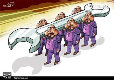 کاریکاتور/ رکود جدی صنعت در سال اقدام و عمل!!!