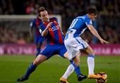 بارسلونا به زحمت پیروز شد و رتبه دوم را بازپس گرفت