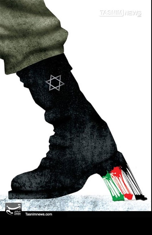 کاریکاتور/ اسرائیل لکه ننگ تاریخ بشریت