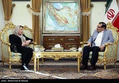 لقاء علی شمخانی مع رئیسة مجلس الشعب السوری