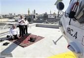 عکس/ نماز خلبانان امداد در بهترین جای ایران