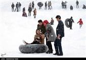 3800 زنجانی در پیست اسکی پاپایی به تفریحات زمستانی میپردازند