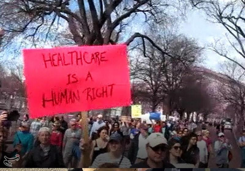 تظاهرات حامیان «اوباماکر» / معترضان : ترامپ خرابکار باید استیضاح شود+ تصاویر
