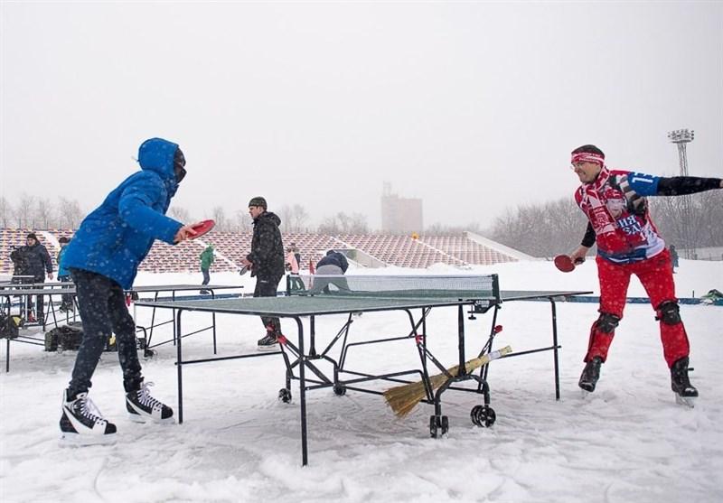 تنیس روی میز با اسکی