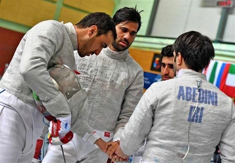 Iran Men's Sabre Team Runner-up at Asian Fencing Championships