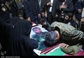 مراسم وداع با پیکر علی اصغرکریمی شهید مدافع حرم