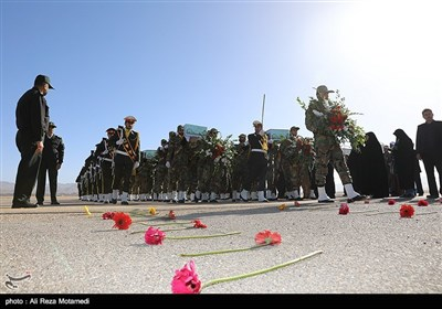 مراسم استقبال از پیکر 7 شهید دفاع مقدس در شهرکرد
