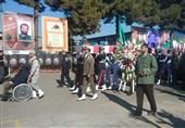 خاکسپاری دو شهید گمنام در صنایع حدید وزارت دفاع +عکس و فیلم