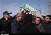 تشییع پیکر شهدای گمنام در تبریز