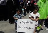 """حضور قربانیان """"مسکن مهر"""" در اجتماع بزرگ حامیان رئیسی در مصلای تهران"""