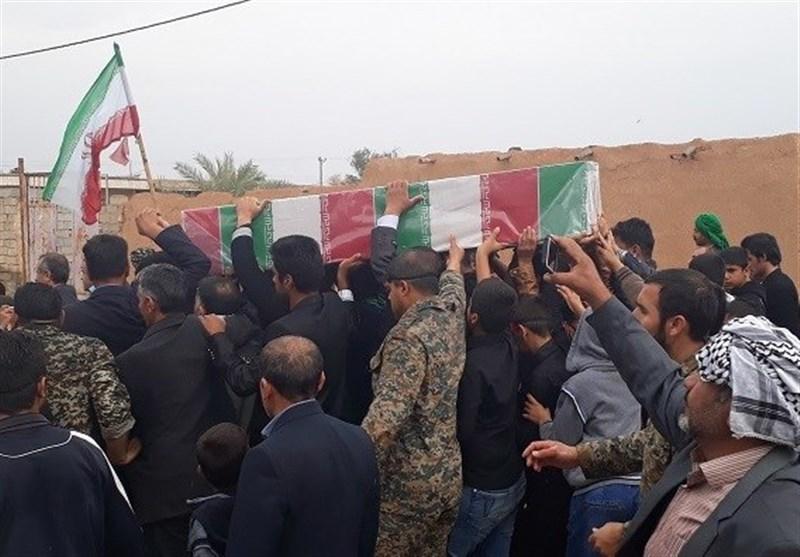 پیکر پاک شهید گمنام دفاع مقدس در آبادان تشییع شد