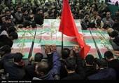 مراسم تشییع و تدفین پیکر شهدای گمنام در کرمان