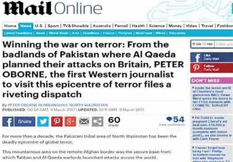 پاک فوج نے دنیا کے خطرناک ترین علاقے سے دہشتگردوں کو نکال دیا، برطانوی اخبار