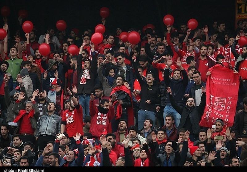 حضور هواداران پارس جنوبی در ورزشگاه یادگار امام (ره) تبریز