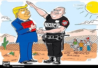 کاریکاتور/ شکار مهاجران، سبک گشتاپو!!!
