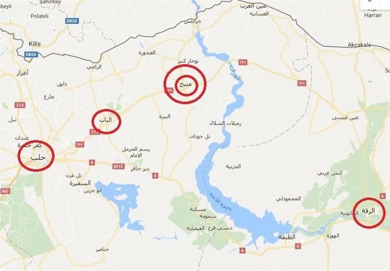 نقشه شمال سوریه