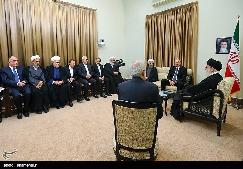 دیدار رئیس جمهور آذربایجان با مقام معظم رهبری