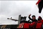 عزاداری فاطمیه رزمندگان عراقی در خط مقدم مبارزه با گروهکهای تروریستی +فیلم