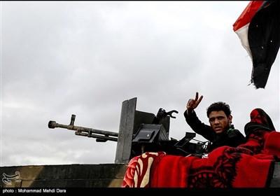 عزاداری فاطمیه رزمندگان عراقی در خط مقدم مبارزه با گروهک های تروریستی +فیلم