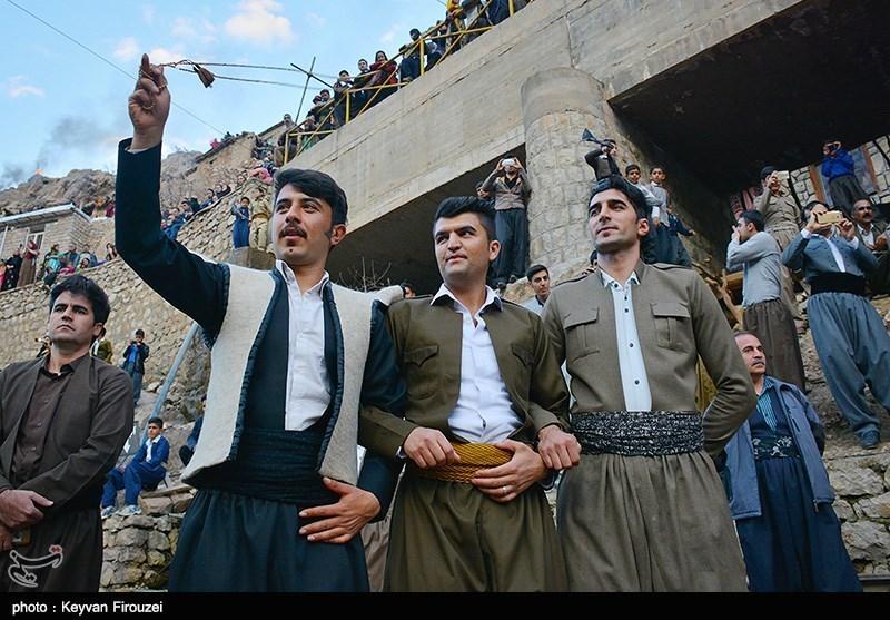 Ancient Ceremony in Iranian Kurdish Village in Celebration of Norooz
