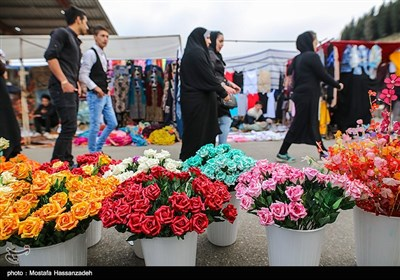 People Shop at Local Bazaar Few Days before Iranian New Year