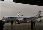 أول طائرة إیرباص 330 إشترتها إیران تحط رحالها فی مطار مهر آباد