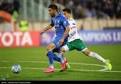دیدار تیم های فوتبال استقلال ایران و لوکوموتیو ازبکستان