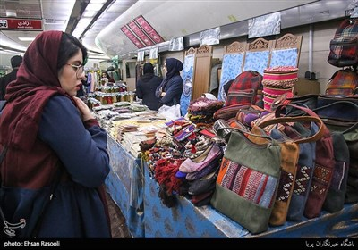 سوق ولی عصر(عج) فی طهران قبل عید النوروز