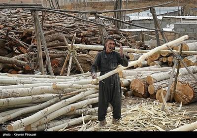کارگاه چوب تراشی - سنندج