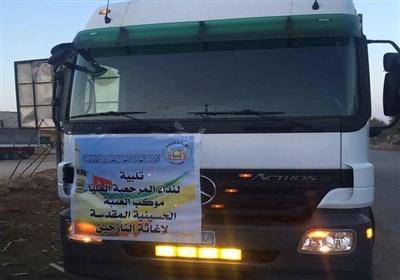 الحشد الشعبی العراقی یرسل أکبر قافلة مساعدات إلى الموصل